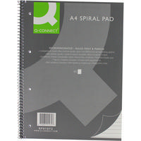 Q-Connect Spiral Pad Executive A4+ 80 Leaf Ruled Feint and Margin Pk5