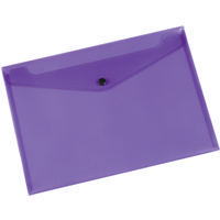 Q-Connect Purple Plastic Document Wallet Folder A4 Pk12