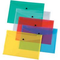 Q-Connect Assorted Plastic Document Wallet Folder A4 Pk12