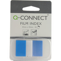 Q-Connect Page Marker 1 inch Pk50 Blue KF03632