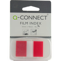 Q-Connect Page Marker 1 inch Pk50 Red KF03633