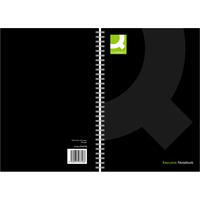 Q-Connect Wirebound Hardback Book A5 Black KF03728 Pk3