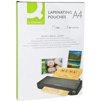 Q-Connect Laminating Pouch A4 80micron Pk100 KF04114
